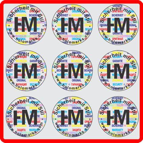 Aufkleber Logo Rund by Hologramm Aufkleber Mit Ihrem Logo In Schwarz Rund 22mm