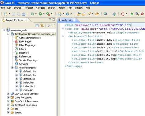 web xml maven hides web xml from eclipse and jbossas tools after