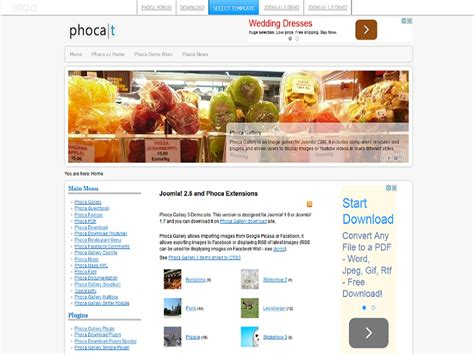 themes phoca gallery download phoca joomla 2 5 template phoca gallery