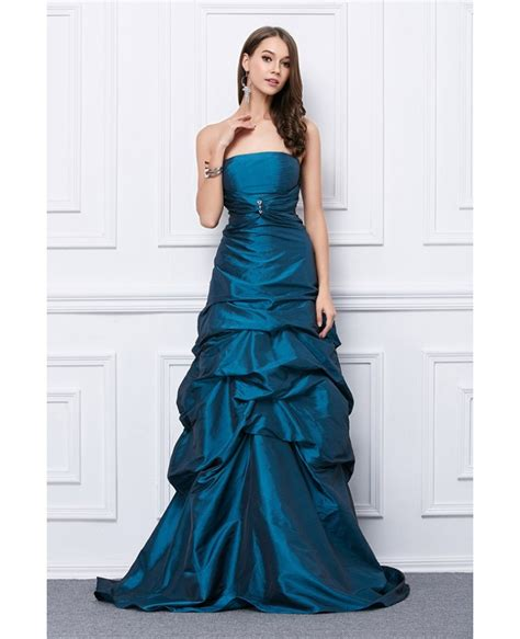Floor Length Gown by Fancy Gown Strapless Taffeta Floor Length Prom Dress