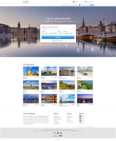 agoda web agoda homepage redesign bake a web