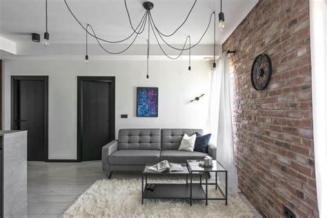 industrial modern apartment interior design troondinterior small industrial apartment in lithuania gets an inspiring