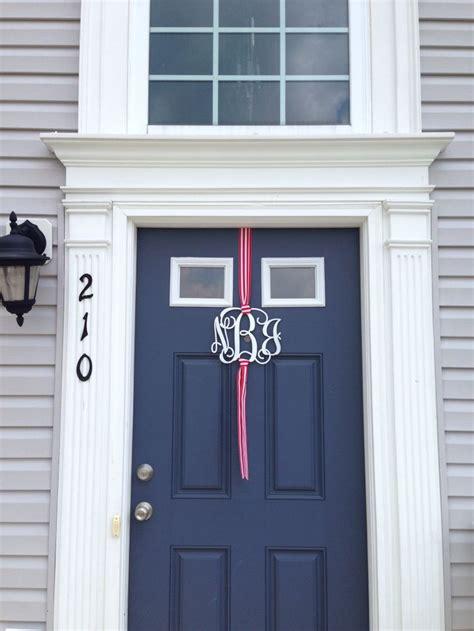 Front Door Initials Front Door Monogram Door Decor