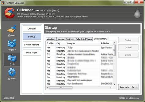 ccleaner context menu ccleaner 3 20 update windows 8 support explorer context