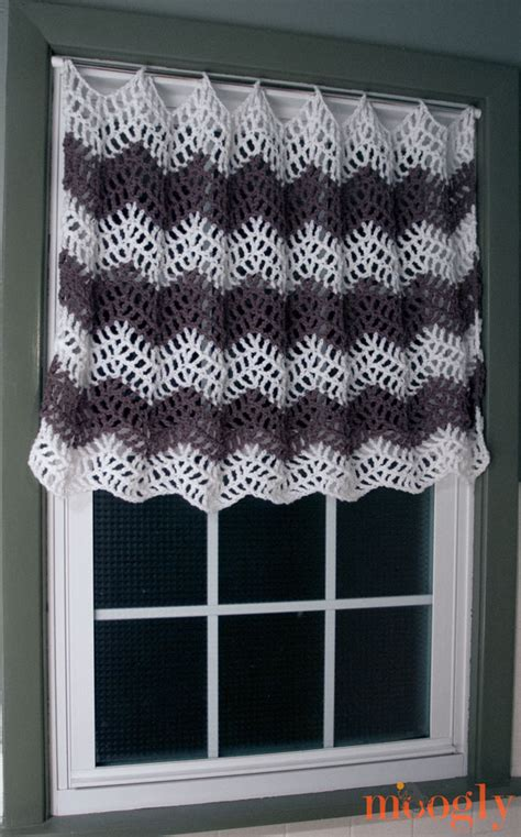 pattern window curtains free crochet pattern big bold chevron curtain
