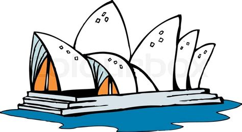 Draw House Plans To Scale sydney opera house australia stock vector colourbox