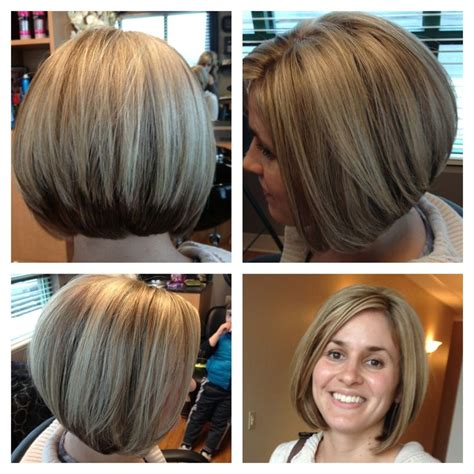 bob hairstyles daily makeover heavy blond highlights and stacked layed bob haircut love