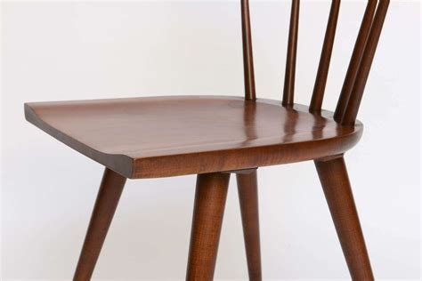 Single Paul Mccobb Spindle Back Chair In Dark Maple At 1stdibs Single Dining Room Chair