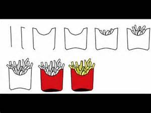 how to draw french fries step by step drawing tutorial
