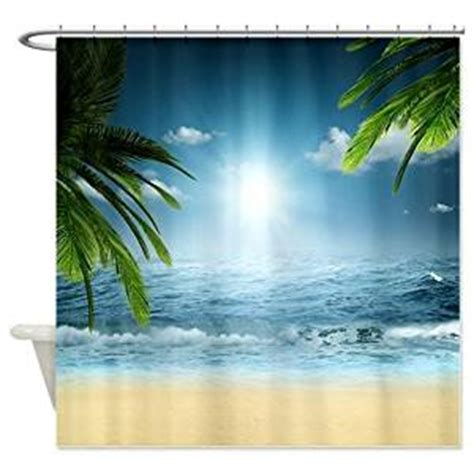 shower curtain beach theme com tropical beach shower curtain beach themed