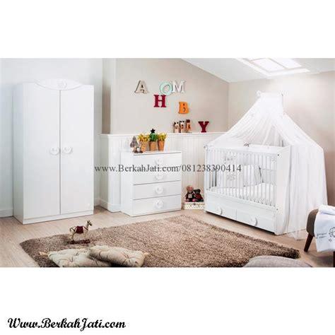 Set Kamar Bayi Tempat Tidur Bayi Ranjang Kayu Jati set kamar tidur bayi putih cantik berkah jati furniture berkah jati furniture