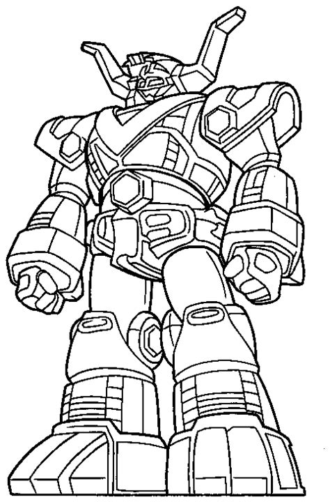 Gambar Mewarnai Robot Titan - sukagambarku