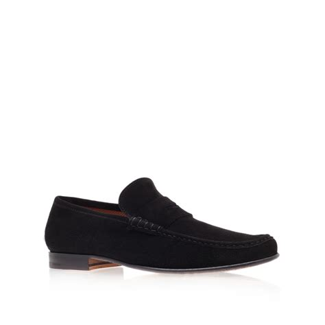 black loafers for stemar suede loafer in black for lyst