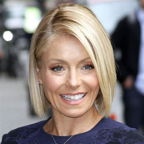 kelly ripa lob a blunt the long and lob haircut on pinterest