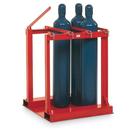 Hydraulic Cylinder Storage Rack by Meco Cylinder Pallet Rack 4 Cylinder Capacity