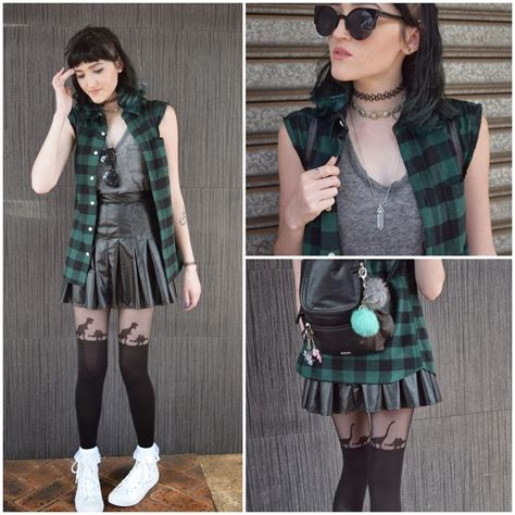 kaicee e supr 233 leather pleated skirt asos green flannel