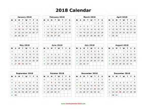 Calendar 2018 Year To View 2016 Printable Yearly Calendar Pdf Calendar Template 2016