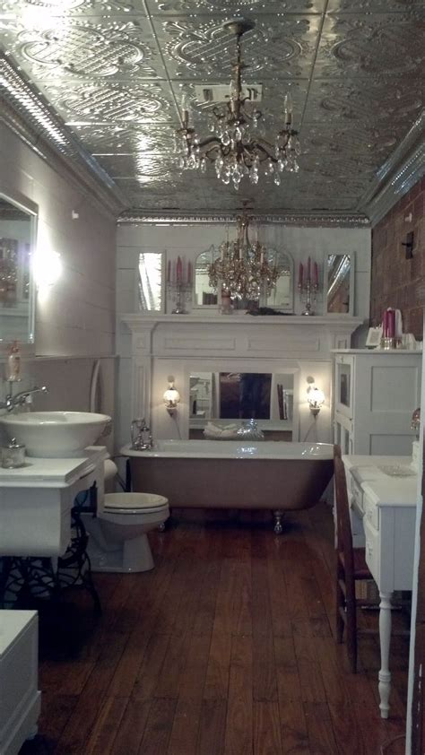 Tin Ceiling In Bathroom by 30 Best Images About Bathroom Remake On Damask