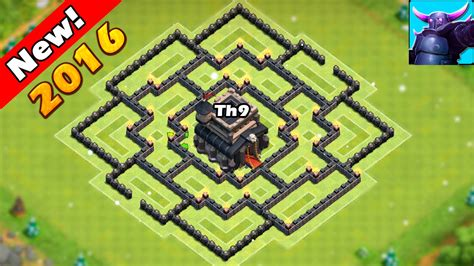 best th9 hybrid base 2016 clash of clans epic th9 hybrid base for new update
