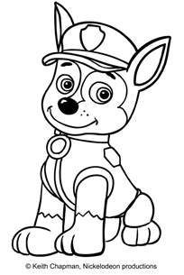 chase from paw patrol coloring pages coloring pages