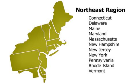 northeast map of the united states the northeast region of the united states thinglink