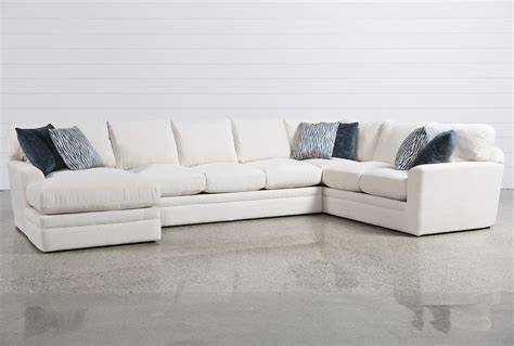 living spaces loveseat glamour ii 3 piece sectional living spaces