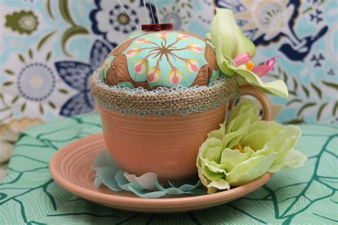 Handmade Pincushions For Sale - handmade teacup pincushions the creative cottage