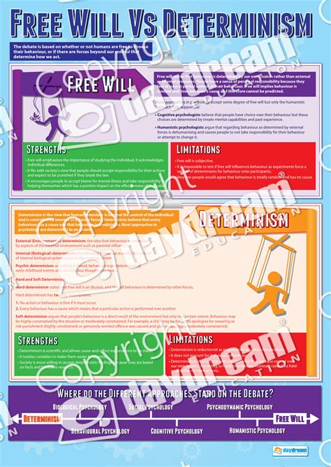 Free Will Vs Determinism Essay by Free Will Vs Determinism Educational Psychology Poster