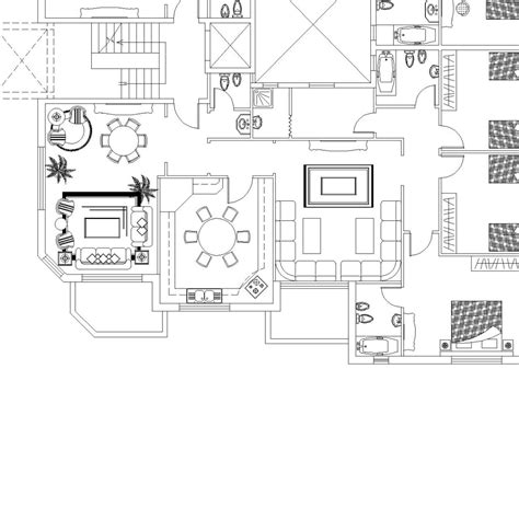 typical floor plan of a house apartments building typical floor plan cad files dwg