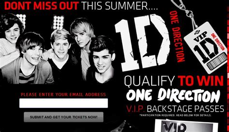 One Direction Tickets Giveaway - the one direction free ticket giveaway scam