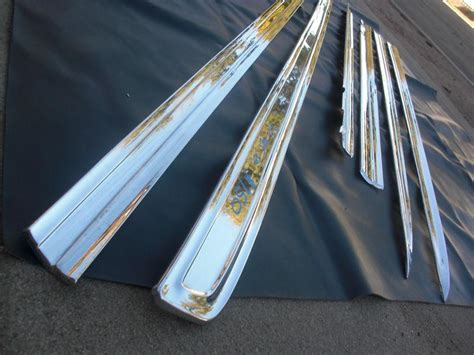 Side Moulding List Sing Chrome Spin 1 purchase 1962 impala side 6 set trim chrome plated oem ht convertible ss