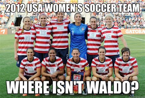 Usa Soccer Memes - 2012 usa women s soccer team where isn t waldo where