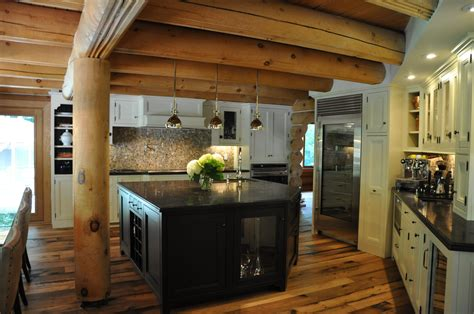 log cabin kitchen ideas kitchen log cabin kitchens design ideas black wooden cabi and island with white countertop on