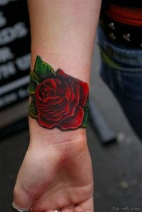 red roses tattoo 52 wrist colorful designs