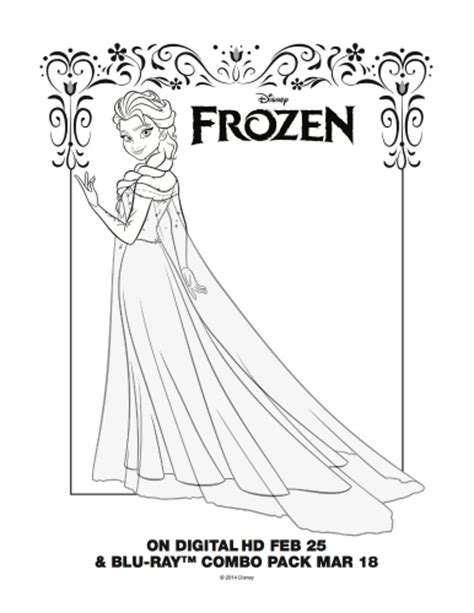 frozen coloring pages printables pinterest free printable coloring page elsa from disney s frozen
