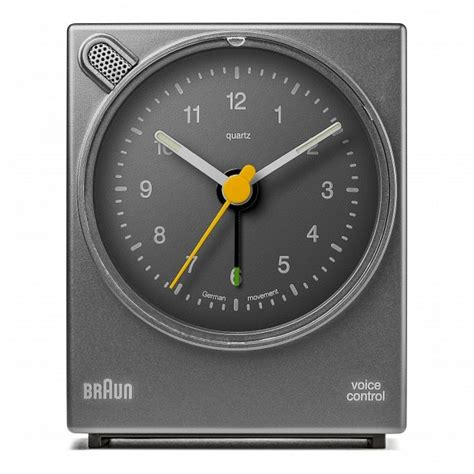 buy braun bnc004gygy classic voice activated alarm clock grey