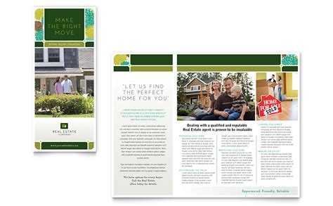 real estate brochures templates free real estate brochure template word publisher