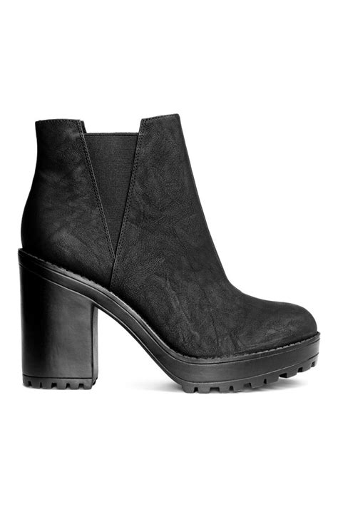 h and m boots platform boots black h m us