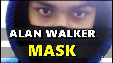 alan walker mask alan walker hoodie face mask black faded alone