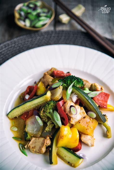 vegetables for stir fry orange chicken and vegetable stir fry paleo leap