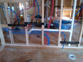 How To Install Plumbing Not Quite A Teardown Plumbing Progress Pex Bathroom