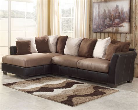 Masoli Mocha Sectional Sofa Set Signature Design By Ashley