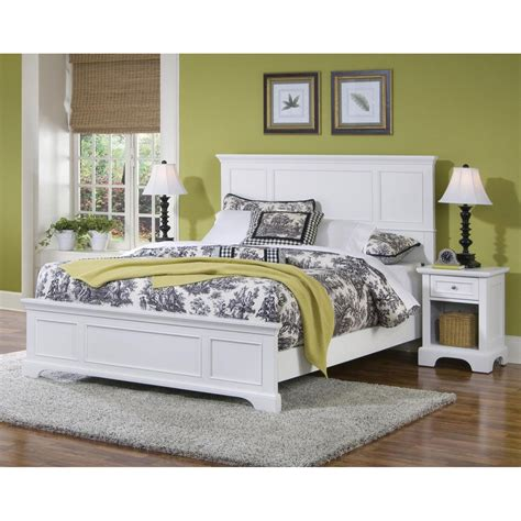 naples white bed and stand home styles