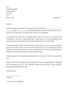 Resignation Letter 24 Hour Notice by Resignation Letter 24 Hour Notice Template