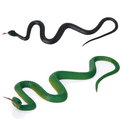 speelgoed slang 1 x artificial rubber snake toy party tricks 22cm green