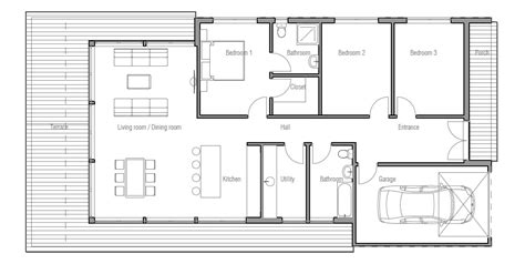 modern small house floor plans small house plan ch181 in modern contemporary architecture