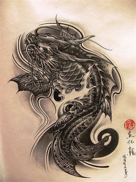 koi fish with dragon tattoo designs best 20 koi ideas on