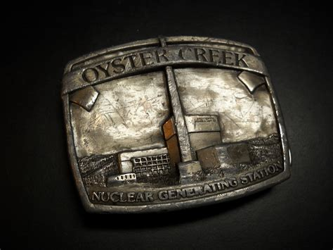 jersey central power and light oyster creek nuclear generating station belt buckle jersey