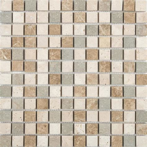 shop anatolia tile countryside uniform squares mosaic travertine wall tile common 12 in x 12