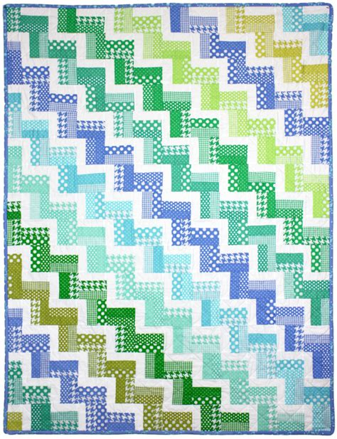 pattern for zig zag quilt zig zag rail quilt by red pepper quilts modern basics